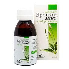 Бронхо-Микс с подорожником фитосироп 100 мл - Фото
