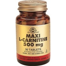 Витамины Солгар L-Карнитин 500 мг таблетки №30 - Фото
