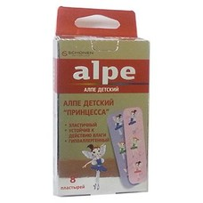 Пластырь детский бактерицидный Принцесса ТМ Алпе / Alpe №8