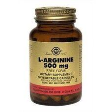 Витамины Солгар L-Аргинин 500 мг капсулы №50 - Фото