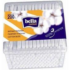 Палочки ватные Cotton пластик квадратная упаковка ТМ Белла №200
