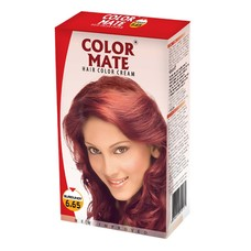 Крем-Краска Color Mate Hair Color Cream - Burgundy (Бургунди) 60мл+60мл+10мл