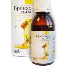 Бронхо-Микс на основе меда с мать-мачехой фитосироп 100 мл - Фото