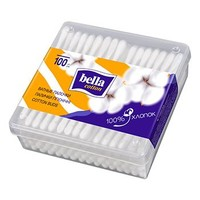 Палочки ватные Cotton пластик прямоугольная упаковка ТМ Белла №100