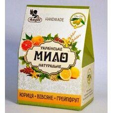Подарочный набор мыла натурального ручной работы Ангел/Angel корица-лимон, овсяные хлопья и ваниль, грейпфрут по 95г