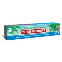 Травмоверт хлорофиллипт с окопником крем-бальзам косметический 25гр