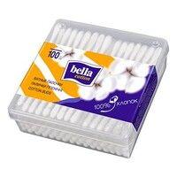 Палочки ватные Cotton пластик квадратная упаковка ТМ Белла №100