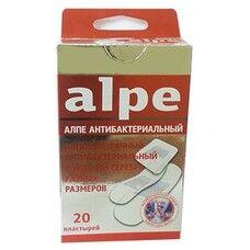 Пластырь прозрачный антибактериальный с ионами серебра разных размеров ТМ Алпе / Alpe №20