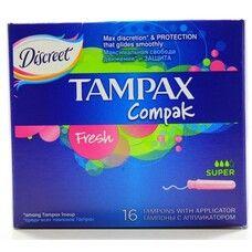 Тампоны ТМ Тампакс / Tampax Super Fresh Compak №16
