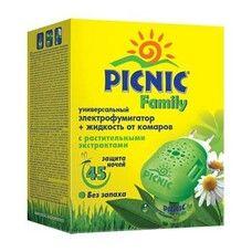 Комплект Пикник Фемили электрофумигатор и жидкость от комаров 30мл