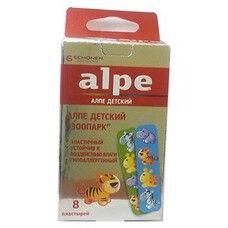 Пластырь детский бактерицидный Зоопарк ТМ Алпе / Alpe №8