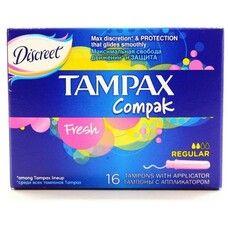 Тампоны ТМ Тампакс / Tampax Regular Fresh Compak №16
