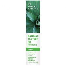 Зубная паста натуральная с маслом чайного дерева - Фенхель ТМ Дессерт Эссенс / Dessert Essence 176мл