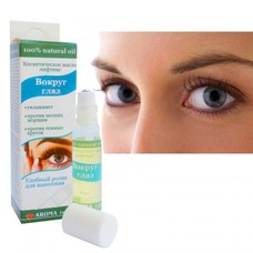 Косметическое масло-лифтинг для кожи вокруг глаз ролик 8 мл - Фото