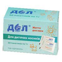 Средство №1 для устройства оториноларингологического ДОЛ пакеты по 1 г №30