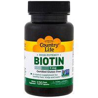 Витамины группы B(Biotin) 5 мг 120 капсул ТМ Кантри Лайф / Country Life