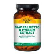 Комплекс для здоровья мужчин Saw Palmetto Pygeum Extract (Экстракт сереноа и коры африканской сливы) Country Life №60 - Фото