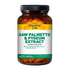 Saw Palmetto Pygeum Extract (Экстракт сереноа и коры африканской сливы) 60 капсул ТМ Кантри Лайф / Country Life