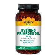Evening Primrose Oil (Масло примулы вечерней) 500 мг 60 капсул ТМ Кантри Лайф / Country Life - Фото