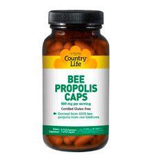 Bee Propolis (Пчелиный прополис) 500 мг 100 капсул ТМ Кантри Лайф / Country Life
