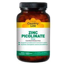 Піколінат цинку таблетки 25 мг №100 ТМ Кантрі Лайф / Country Life - Фото