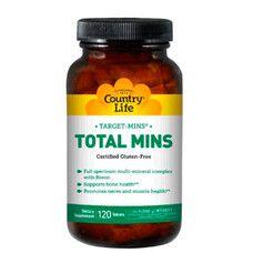 Вітамінно-мінеральний комплекс Total Mins 120 таблеток ТМ Кантрі Лайф / Country Life - Фото