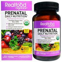 Органический комплекс витаминов и минералов для беременных Real food organics Prenatal 150 таблеток Country Life