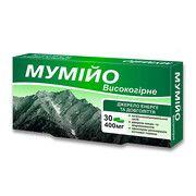 Мумие высокогорное 400 мг, №30 - Фото