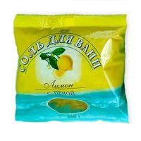 Соль для ванн с пеной Лимон 0,5 кг                           - Фото