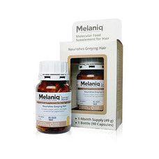 Молекулярна дієтична добавка Melaniq® для відновлення кольору сивого волосся 90 капс - Фото