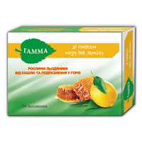 Гамма травяные леденцы от кашля и раздражения в горле мед-лимон №24