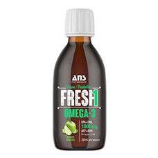 Вітаміни ANS Performance Fresh Веганська Омега-3 зі смаком зелене яблуко 200мл - Фото