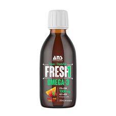 Вітаміни ANS Performance Fresh Веганська Омега-3 зі смаком полуниця-апельсин 200 мл - Фото