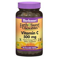 Вітамін С 500 мг EarthSweet зі смаком апельсину 90 жувальних таблеток - Фото