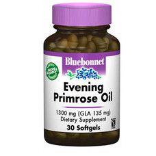 Олія Примули Вечірньої 1300 мг Bluebonnet Nutrition 30 желатинових капсул - Фото