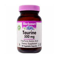 Таурин 500 мг Bluebonnet Nutrition 50 гелевих капсул - Фото