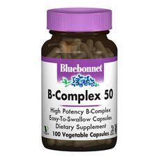 В-Комплекс 50 Bluebonnet Nutrition 100 гелевих капсул - Фото