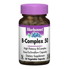 В-Комплекс 50 Bluebonnet Nutrition 50 гелевих капсул - Фото