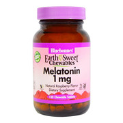 Мелатонин 1 мг Bluebonnet Nutrition EarthSweet Малиновый Вкус 120 жевательных таблеток - Фото