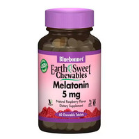 Мелатонін 5 мг Смак Малини Earth Sweet Chewables Bluebonnet Nutrition 60 жувальних таблеток