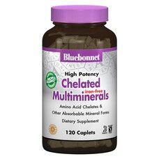 Взаимодействующие минералы без железа Albion Bluebonnet Nutrition 120 капсул - Фото