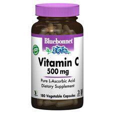 Вітамін С 500 мг Bluebonnet Nutrition 180 гелевих капсул - Фото