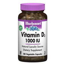 Витамин D3 1000 IU Bluebonnet Nutrition 180 гелевых капсул - Фото