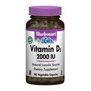 Витамин D3 2000 IU Bluebonnet Nutrition 180 гелевых капсул - Фото