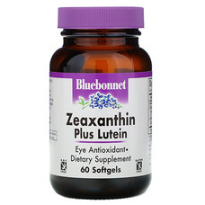 Зеаксантин + лютеїн Bluebonnet Nutrition 60 м'яких желатинових капсул - Фото