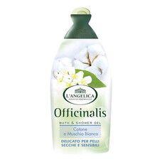 Гель для душа и ванны Бархатный с белым мускусом и хлопком Langelica Officinalis 500 мл