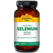 Антиоксидант Selenium (Селен) 100 мкг 180 таблеток ТМ Кантри Лайф / Country Life - Фото