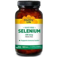 Антиоксидант Selenium (Селен) 100 мкг 180 таблеток ТМ Кантрі Лайф / Country Life - Фото