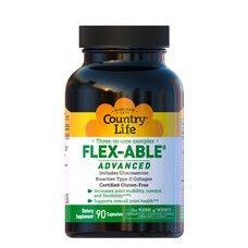 Комплекс для суглобів 3в1 Flex-Able Advanced 90 капсул ТМ Кантрі Лайф / Country Life - Фото