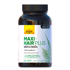 Комплекс Maxi-Hair Plus для зростання і зміцнення волосся 120 капсул ТМ Кантрі Лайф / Country Life - Фото